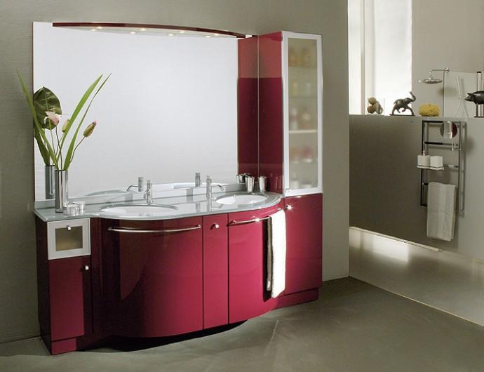 Kecasa arredobagno - Mobile bagno rosso ...