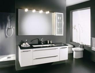 Mobili Da Bagno Bianco Lucido : Allibert mobili da bagno set pre assemblati bianco lucido specchio
