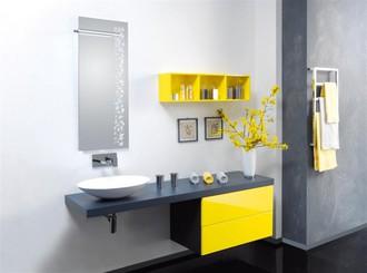 Arredo bagno bianco e grigio giallo e grigio in bagno la stampa