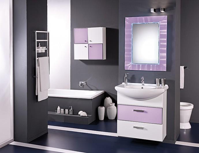 Mobili Da Bagno Bianco Lucido : Mobili da bagno set alice lavandino doppio lavabo per stanza led