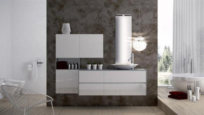Mobili Da Bagno Bianco Lucido : Mobile da bagno y bianco lucido specchio a scelta boutique